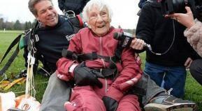 100 y old women